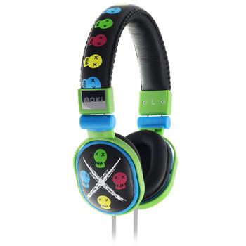 Moki Popper - Skull Black soft cushioned premium DJ Style headphone