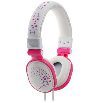 Moki Popper - Sparkles White soft cushioned premium DJ Style headphone