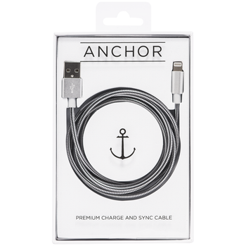 Ever Cable Stainless Steel USB Fast Charging for all iPhone devices 5 and above