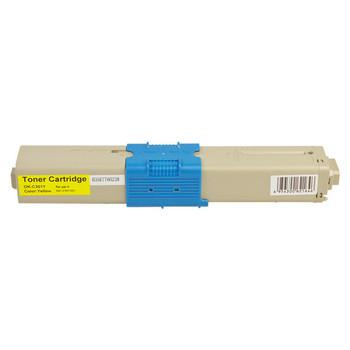 OKI 44973545 #301 Yellow Premium Remanufactured Toner