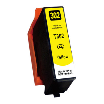 Yellow Compatible Inkjet Cartridge (Replacement for 302XL Yellow)