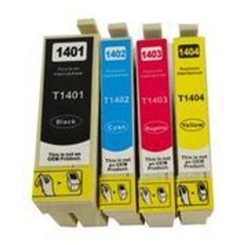 T1401 Series Compatible Inkjet Cartridge Set (4 Cartridges)