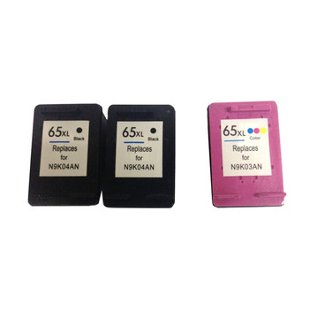 HP Compatible Remanufactured Value Pack (2 x HP65XL Black & 1 x HP65XL Color) with New Chip