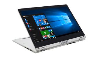 "Leader 2 in 1 Convertible 351 13.3"" Full HD Intel I5-8350U 8GB 240GB SSD Touch Windows 10 Home Hello(FP) Ink(Pen) Flip W10H"