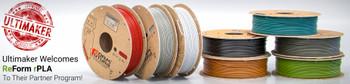 Recycled PLA filament ReForm - rPLA 2.85mm 1000 gram OFF-BLACK 3D Printer Filament