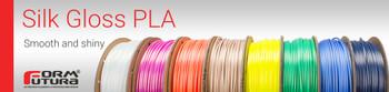 PLA Filament Silk Gloss PLA 1.75mm 50 gram Brilliant Silver 3D Printer Filament