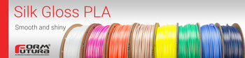 PLA Filament Silk Gloss PLA 2.85mm 50 gram Brilliant Silver 3D Printer Filament