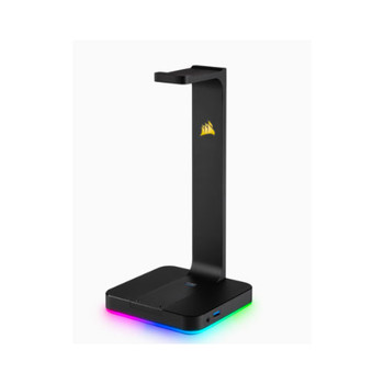 Corsair Gaming ST100 RGB - Headset Stand with 71 Surround Sound Built in 35mm analog input Dual USB 31 ports