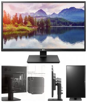 LG 27' IPS 5ms Full HD Business Monitor w/HAS - VGA DVI HDMI DP USB Speakers VESA Height Adjust Stand