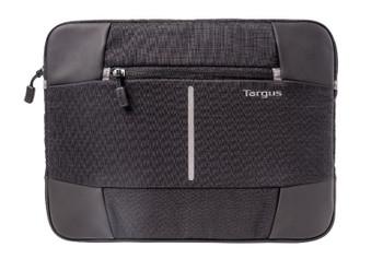 Targus 13-14'' Bex II Laptop Sleeve - Weather-resistant & rip-stop fabrication - Black with black trim