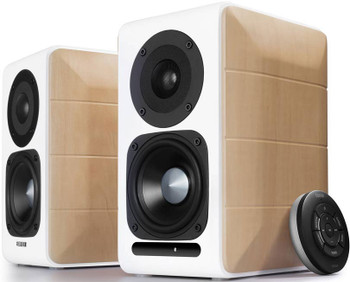 Edifier S880DB Hi-Res Audio Certified Powered Bookshelf Bluetooth Speakers White - BT 4.1/3.5mm AUX/USB/Optical/94mm Bass Driver/Built-in AMP