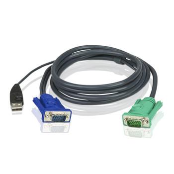 Aten 1.2m USB KVM Cable to suit CS8xU, CS174x, CS13xx, CS17xxA, CS17xxi CL5xxx, CL58xx