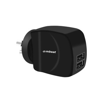 mbeat Gorilla Power Duo 3.4A Dual USB Ports Smart Charger - Charge 2 Smartphones or Tablets Simultaneously