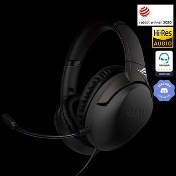ASUS ROG STRIX GO CORE 3.5mm Gaming Headset, Foldable Design, Discord and Teamspeak Optimised Microphone can be use for PC MAC PS4 Xbox One, Nintendo Switch