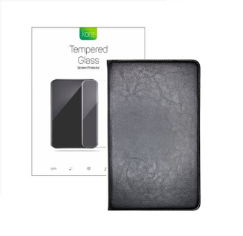 Kore Bundle Pack for Samsung Galaxy Tab A 10.1 - Binder Case & Tempered Glass Screen Protector