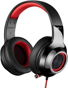 EDIFIER V4 (G4) 7.1 Virtual Surround Sound USB Gaming Headset Red - V7.1 Surround Sound/ Retractable Mic/LED Lights Mesh/USB/Gaming/PC/Laptop(LS)