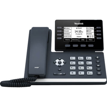 YEALINK SIP-T53W, 12 Line IP HD Phone, 3.7' 360 x 160 greyscale screen, HD voice, Dual Gig Ports, Built in Bluetooth and WiFi, USB 2.0 Port