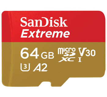 SANDISK 64GB Extreme microSD SDHC SQXAF V30 U3 C10 A1 UHS-1 160MB/s R 60MB/s W 4x6 SD Adaptor Android Smartphone Action Camera Drones
