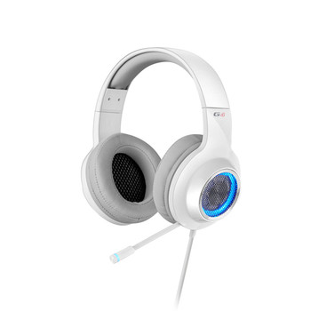 EDIFIER V4 (G4) 7.1 Virtual Surround Sound USB Gaming Headset White - V7.1 Surround Sound/ Retractable Mic/LED Lights Mesh/USB/Gaming/PC/Laptop(LS)