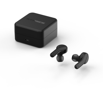 HYPHEN Wireless Earbuds Bluetooth Headphone Black color