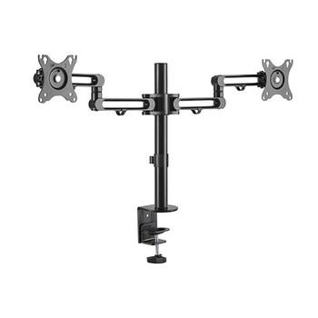 BRATECK Dual Monitor Premium Aluminum Articulating Monitor Arm Fit Most 17'-32' Monitors Up to 8kg per screen