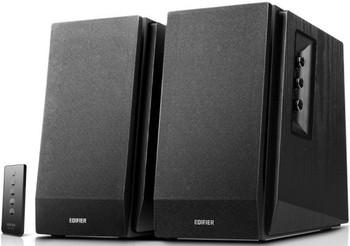 EDIFIER R1700BT Bluetooth Lifestyle Bookshelf Studio Speakers Black - BT/Dual 3.5mm AUX/Limited Distortion DSP/DRC/Classic Wood Finish/Wireless Remote