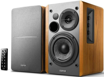 EDIFIER R1280DB - 2.0 Lifestyle Bookshelf Bluetooth Studio Speakers Brown - 3.5mm AUX/RCA/BT/Optical/Coaxial Connection/Wireless Remote