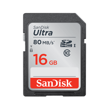 SANDISK 16GB Ultra SDHC SDXC UHS-I Memory Card 80MB/s Full HD Class 10 Speed Shock Proof Temperature Proof Water Proof X-ray Proof Digital Camera