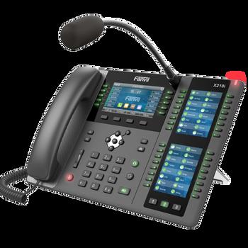 FANVIL X210i Enterprise IP Phone - Intercom Paging Phone, 4.3' (Video) Colour Screen, 20 Lines, 106 x DSS Buttons, Dual Gigabit NIC, Bluetooth