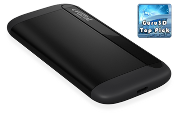 MICRON (CRUCIAL) X8 2TB External Portable SSD ~1050MB/s USB3.2 USB-C USB3.0 USB-A Durable Rugged Shock Proof for PC MAC PS4 Xbox Android iPad Pro