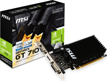MSI nVidia Geforce GT 710 1GB LP Low Profile VGA Card GDDR3 2560x1600 1xHDMI 1xDVI PCIE2.0x16 954 MHz Core