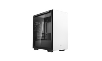 DEEPCOOL MACUBE 110 White Minimalistic Micro-ATX Case, Magnetic Tempered Glass Panel, Removable Drive Cage, Adjustable GPU Holder, 1xPreinstalled Fan