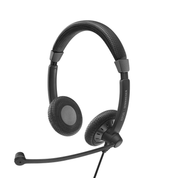 EPOS I Sennheiser IMPACT SC70 USB Headset,  Black,  Double Sided Corded headset with USB Connect, All Day Comfort, Noise Cancelling Mic, 2 Years