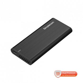Simplecom SE515 Tool-Free NVMe / SATA Dual Protocol M.2 SSD to USB 3.2 Gen 2 Type C Enclosure