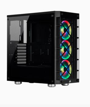 CORSAIR  iCUE 465X RGB ATX BLACK (LL120 RGB Fan) Mid-Tower Smart Case v2
