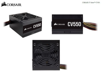 CORSAIR 550W CV Series CV550, 80 PLUS Bronze Certified, Up to 88% Efficiency,  Compact 125mm design easy fit and airflow, ATX Power Supply, PSU