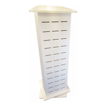 8WARE Retail Cable Display Stand 1 - 4 Sides/Way Slat Panel Spinner - Dimension 45x45x130cm (L-CB8W-DISPLAYSTAND1)