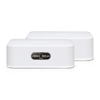 UBIQUITI Amplifi Instant AFI Home Wi-Fi Mesh Kit - 801.11ac 867Mbps - Includes 1x Mesh Router and 1x Extender - LCD Interface - Free AmpliFi VPN