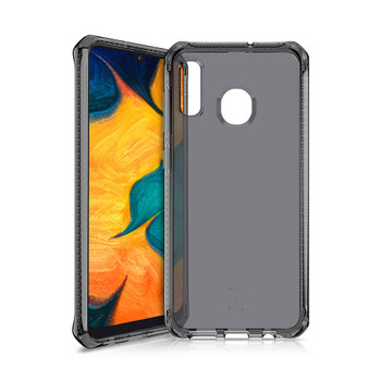 ITSKINS Spectrum 2M Drop Case Samsung Galaxy A20 & A30 Clear / Black- Stay Protected, Slim & Protective, Raised Corners, Drop Certified