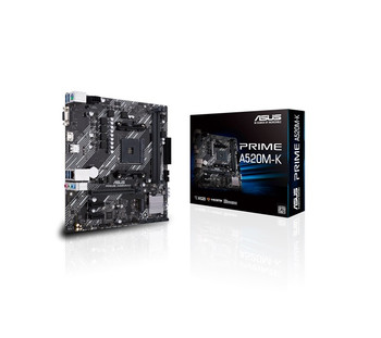 ASUS PRIME A520M-K N Micro ATX Motherboard with M.2 support, 1 Gb Ethernet, HDMI/D-Sub, SATA 6 Gbps, USB 3.2 Gen 1 Type-A
