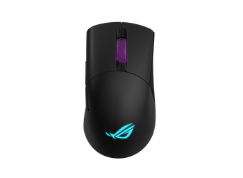 ASUS P513 ROG KERIS Wireless FPS Gaming Mouse, Lighweight, 16000dpi, 7 Programmable Buttons, Swappable Side Buttons, Aura Sync. PBT Buttons, 78 Hours