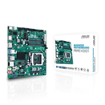 ASUS PRIME H310T R2.0-SI DDR4 32GB Supports 8th Gen 9th Gen 2x SODIMM 1xDP/1xHDMI/1xM.2 (special system build only, requires DC power to turn on) (L-MBA-H310T-R2.0-SI-P)