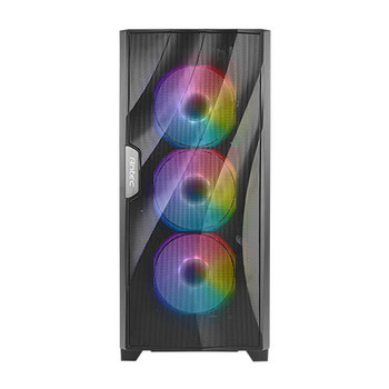 ANTEC DF700 FLUX Wave Mesh Front, High Airflow, Tempered Glass with 3x ARGB Fan Front, 1x Rear, 1x PSU Shell (Reverse Fan blade) ATX Gaming Case