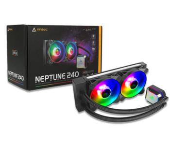 ANTEC Neptune 240 ARGB Advanced Liquid CPU Cooler, PWM LED Fan, PTFE Tubing, LGA 115x, 1200, 2011-v3, 2066, AM4, AM3+ FMx, TR4, 3 Yrs Warranty