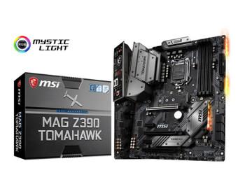 MSI MAG Z390 TOMAHAWK ATX Motherboard -S1151 9Gen 4xDDR4 3xPCI-E DP/HDMI 2xM.2 Dual LAN 6xSATA RAID CF 4xUSB3.1 RGB