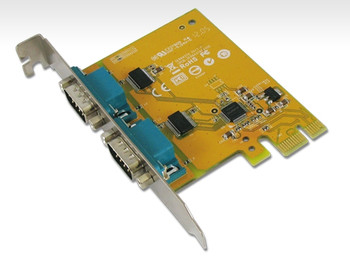 SUNIX PCIE 2 Port Serial Card Full Height Expansion RS-232 - It is compatible with PCI Express x1, x2, x4, x8 and x16 lane