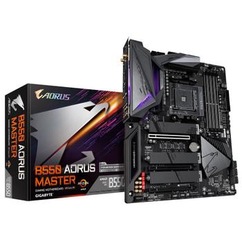 GIGABYTE B550 AORUS MASTER AMD Ryzen ATX Motherboard 4xDDR4 6xSATA 2xM.2 2xPCIEx16 LAN RAID WF6 BT 4xUSB3.2 1xUSB-C