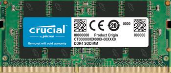 MICRON (CRUCIAL) 16GB (1x16GB) DDR4 SODIMM 2666MHz CL19 1.2V Notebook Laptop Memory RAM