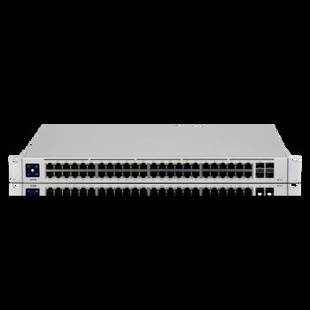 UBIQUITI UniFi 48 port Managed Gigabit Layer2 & Layer3 switch - 48x Gigabit Ethernet Ports w/ 32x 802.3at POE+, 4x SFP Port Touch Display 210W