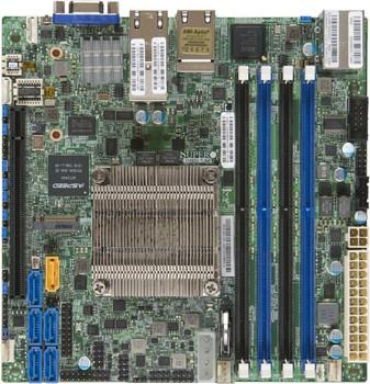 SUPERMICRO X10SDV-16C-TLN4F Motherboard, Intel Xeon Processor D-1587, ITX, 4 x DIMM, 1 x PCI-E x16, M.2,